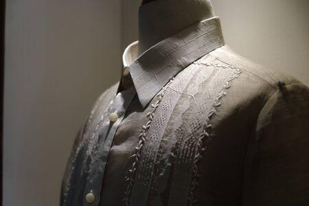 formal shirt and  national dress of the Philippines  barong tagalog