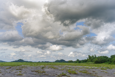 cloudy sky at pinatubo capas, Philippines Stock Photo