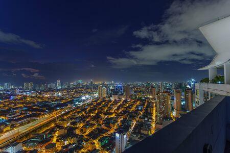 Metro Manila Skyline at Sunset , Philippines Reklamní fotografie