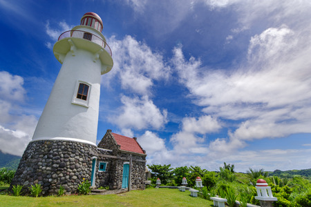 Lighthouse in Basco , Ivatan island, Batanes, Philippines Banco de Imagens