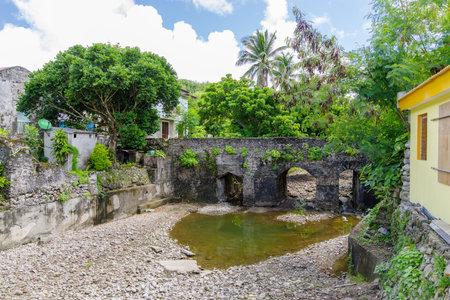 Spanish style old stone bridge at Batan Island, Batanes, Philippines Editorial