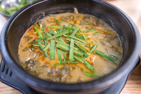 famous winter Korean food loach soup, Korea