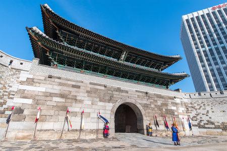 Dec 7,2017 front of Namdaemun gate at Seoul,Korea