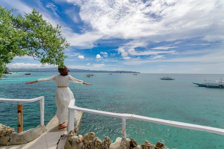 beautiful view at boracay, Philippines Stock Photo