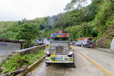 Dec 31, 2017 Jeepney parking at Batad entrance , Banaue , Philippines Stock Photo - 92636905