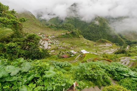 beautiful landscape  Batad rice terrace  in Banaue, Philippines Stock Photo