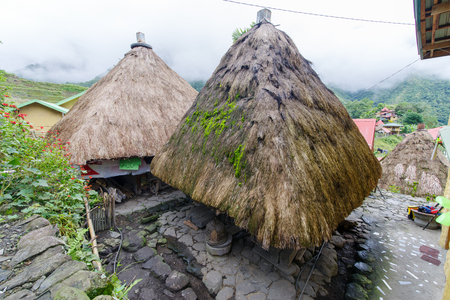 Ifgao Traditional house in Batad , Banaue , Philippines