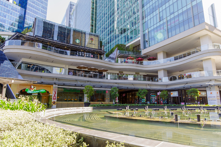 Jan 20,2018 View of Up town mall in front of fountain,Taguig City, Philippines