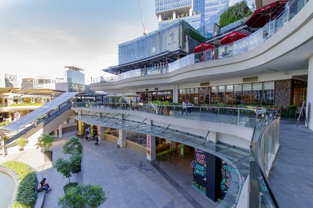 Feb 20,2018 View of shopping Up town mall from the second floor, Taguig City, Philippines Editorial
