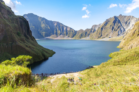 Beautiful landscape at Pinatubo Mountain Crater Lake, Philippines