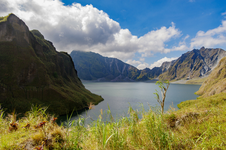 Beautiful landscape at Pinatubo Mountain Crater Lake, Philippines Banco de Imagens