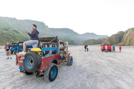 Feb 18, 2018 Tourists taking photos while touring the Pinatubo, Capas , Philippines