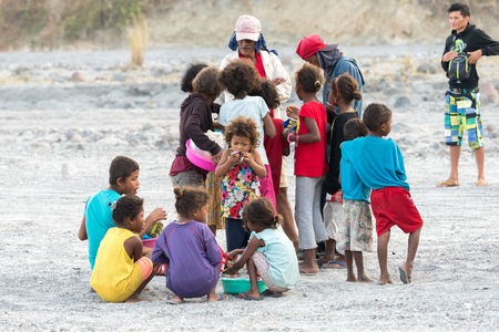 Feb 18, 2018 Aboriginal children waiting for tourists at viewpoint, Capas, Philippines Editorial