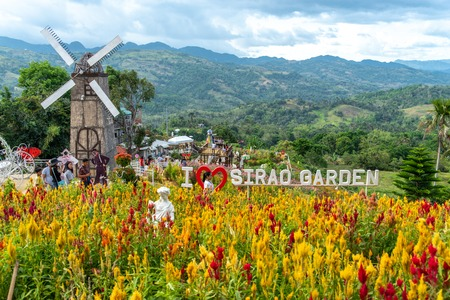 Cebu city, Philippines Apr 25,2018 - Tourists taking commemorative photos at Sirao Garden