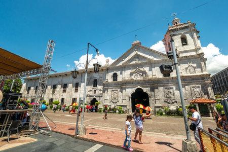 Cebu city, Philippines Apr 25,2018 - People who watch Sto Nino Church