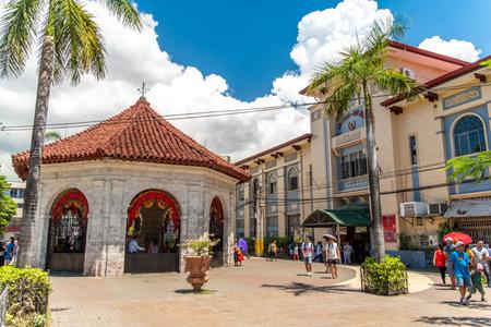Cebu city, Philippines Apr 25,2018 - People who see Magellans Cross Editorial