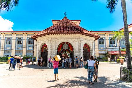 Cebu city, Philippines Apr 25,2018 - People who see Magellans Cross
