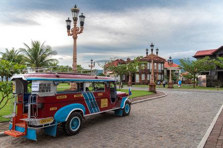 Bataan, Philippines - Jun 30,2018 : A jeepney waiting for tourists at Las casas filipinas