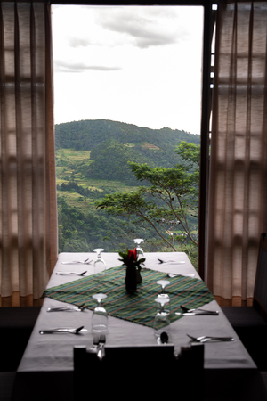 A restaurant where you can enjoy the wonderful nature, Philippines