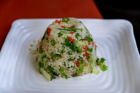 Vegetable fried rice at Bannaue, Philippines