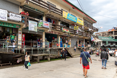 BANAUE PHILIPPINES, Aug 22,2018 People passing in front of the Public market Editorial