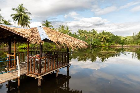 beautiful floating restaurant at Coron, Palawan, Philippines