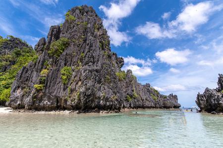 Beautiful landscape Hidden Beach in El nido, Palawan, Philippines Imagens