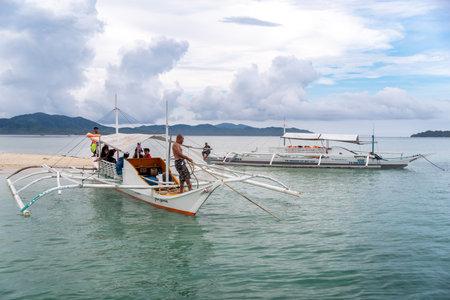 Dec 23,2018 Boat anchored at the Starfish island, Palawan, Philippines Redakční