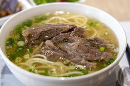 Berühmtes chinesisches Essen - Rindfleischnudelsuppe, Taipei, Taiwan