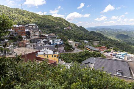 beautiful landscape at Jiufen at New Taipei city, Taiwan Stock Photo