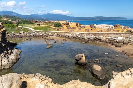 Beautiful landscape at Yehliu Geopark, New Taipei city, Taiwan