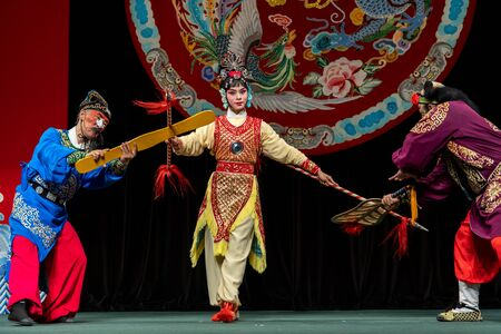 Aug 23,2019 Actor of the TaipeiEYE perform Legend of Eight Immortals Crossing the Sea at Li-Yuan Peking Opera Theatre, Taipei, Taiwan