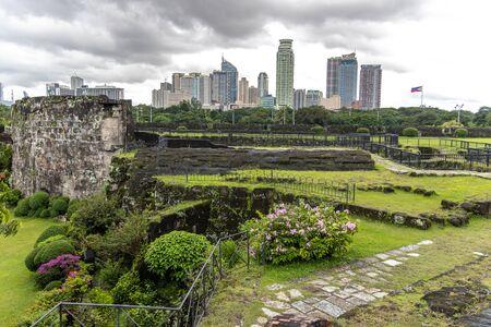Manila cityscape from Intramuros, Manila, Philippines
