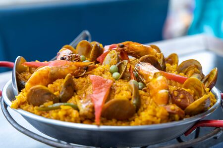 popular spanish style food paella th the Philippines Stock fotó