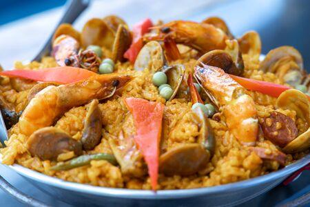 popular spanish style food paella th the Philippines
