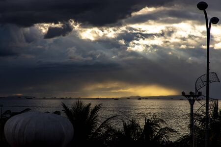 Beautiful sunset at Manila Bay, Philippines Stockfoto