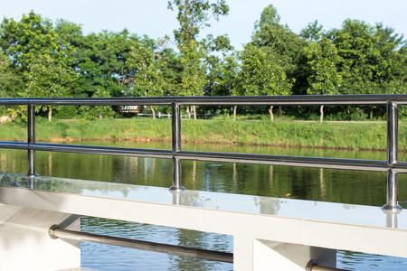 railing: Stainless steel railing