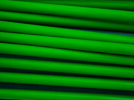 green tube wall photo