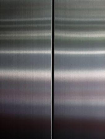 aluminium wallpaper: steel texture