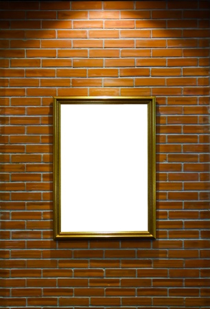 frame on brick wall Stock Photo - 9868224