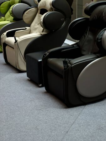 massage electric chair Stock Photo