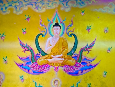 The Thai art of religion on wall of temple. Stock Photo - 10958075