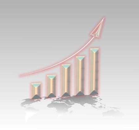Business chart photo