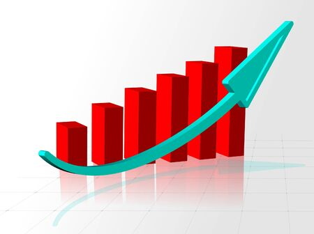 buildup: business graph Stock Photo