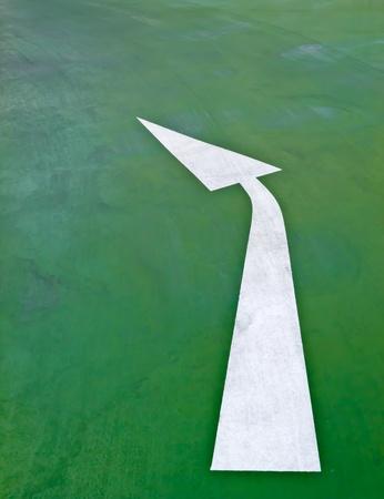 Arrow on the road Stock Photo - 12084088