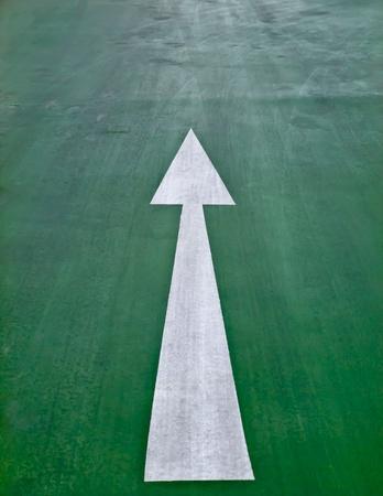 Arrow on the road Stock Photo - 12084089
