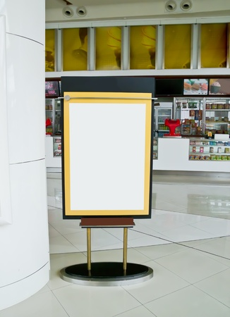 poster stand Stock Photo