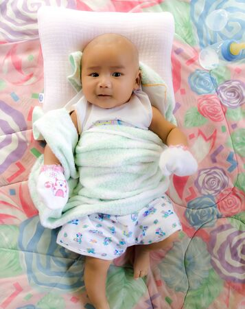 six months: asian baby