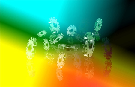 cog in abstract background  photo