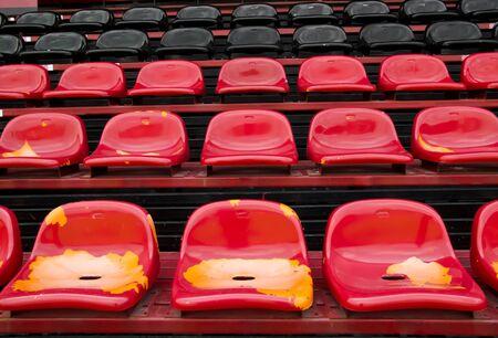 seat in football field photo